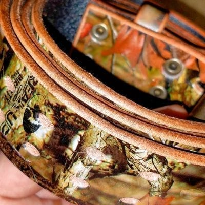 Camo Leather Belts